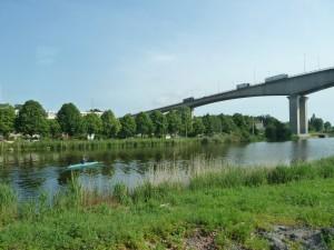 Le pont de Calix, Caen. 19 juin 2013. MAG