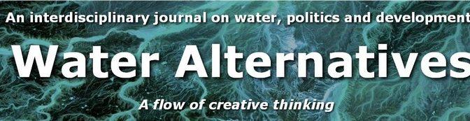 Édition d'un numéro spécial «Dam removal» dans la revue Water Alternatives